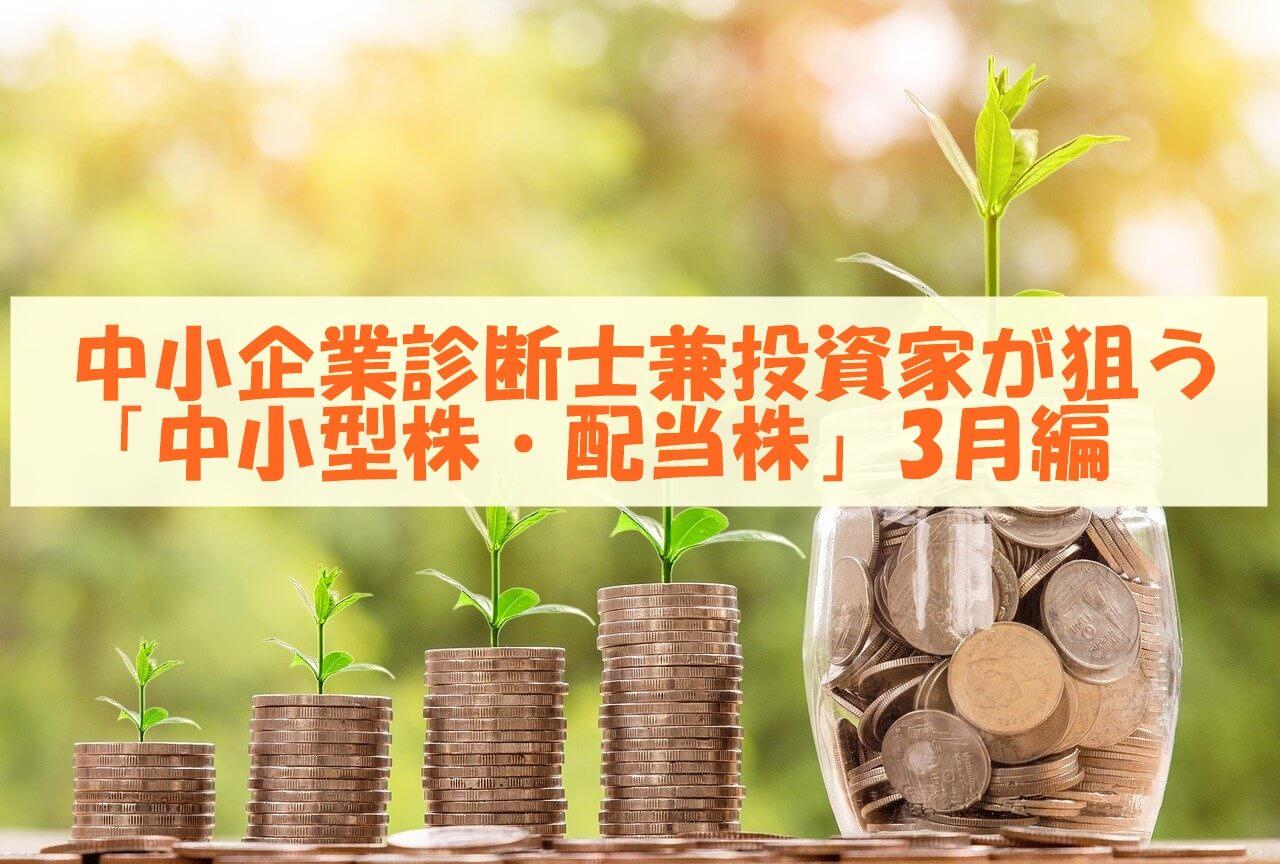 中小企業診断士兼投資家が狙う「中小型株」3月編