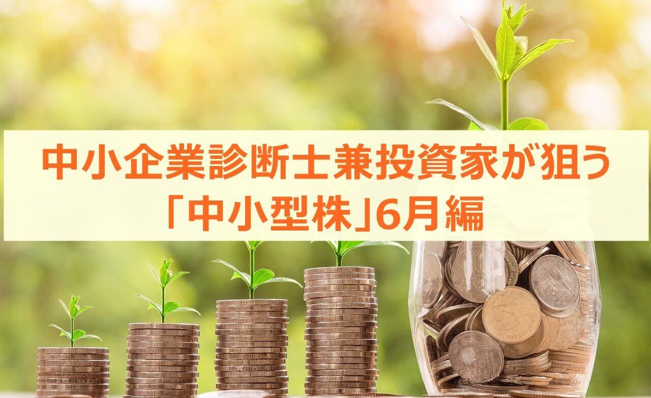 中小企業診断士兼投資家が狙う「中小型株」6月編