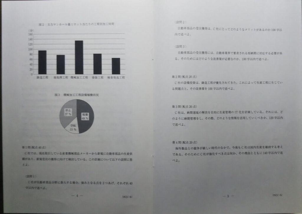 中小企業診断士2次試験 平成27年事例Ⅲ成果物4