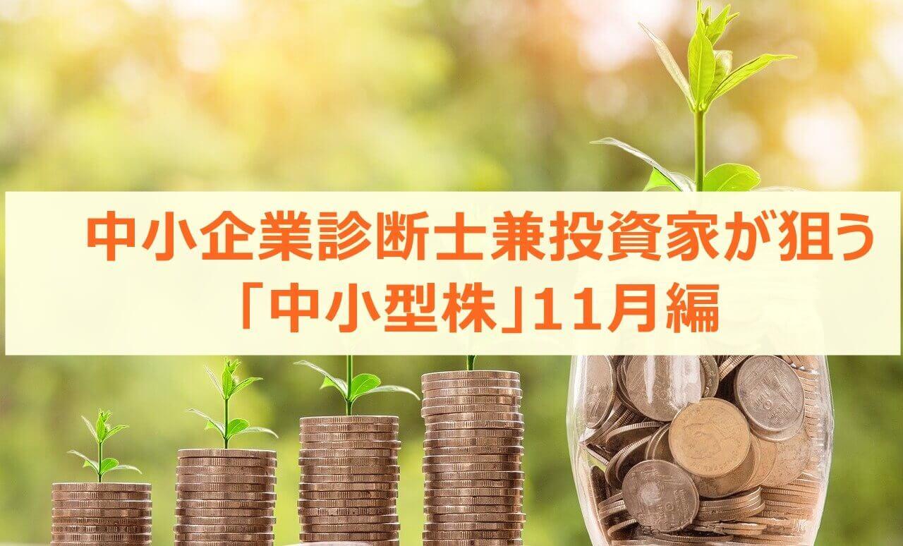 中小企業診断士兼投資家が狙う「中小型株」11月編